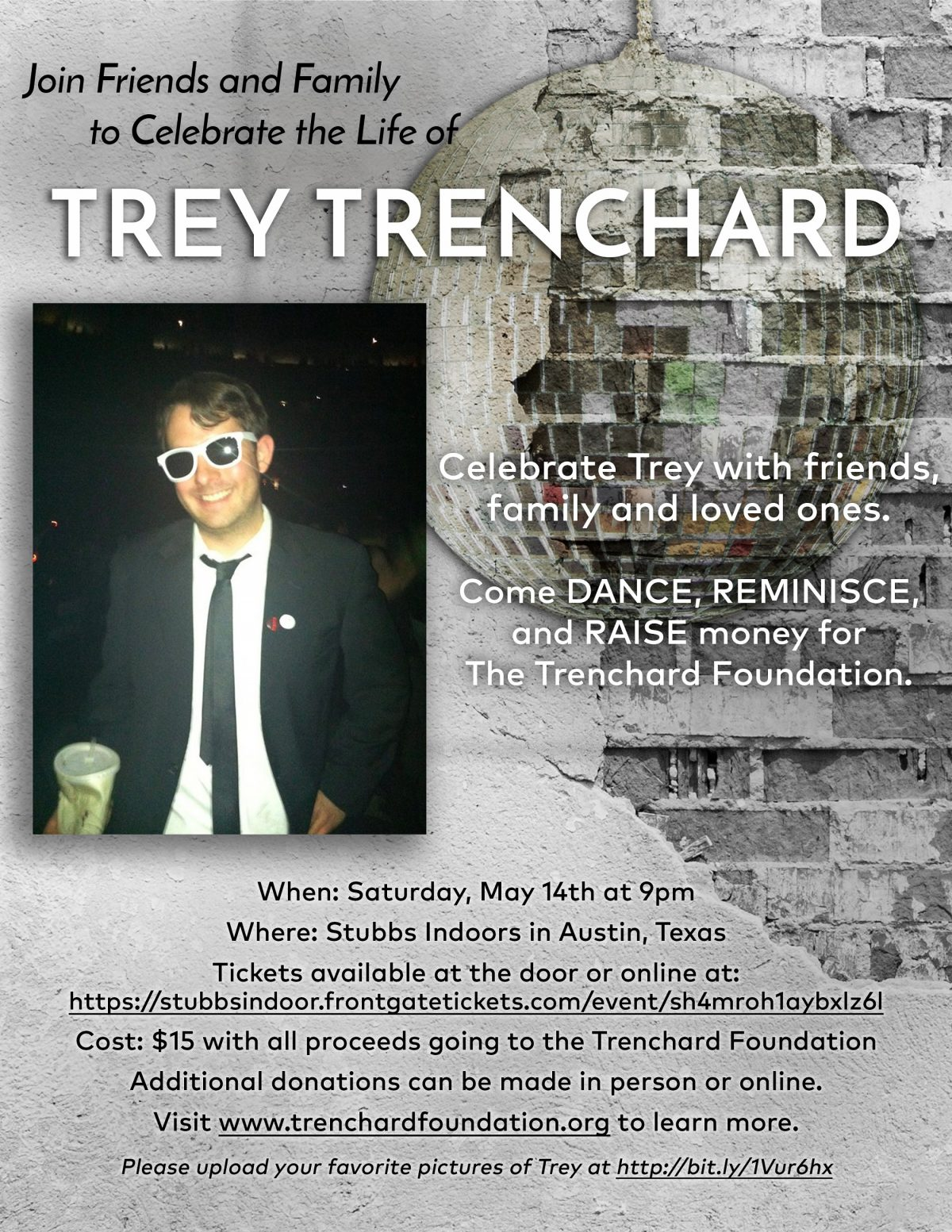 Fundraiser in Austin, Texas Honoring Trey Trenchard